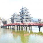 松本城にある藤棚を造り直しています